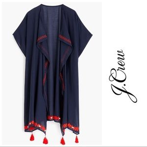 BNWT J. Crew Embroidered beach poncho